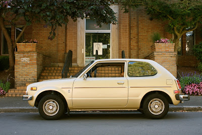 1976 Honda Civic Hatchback.