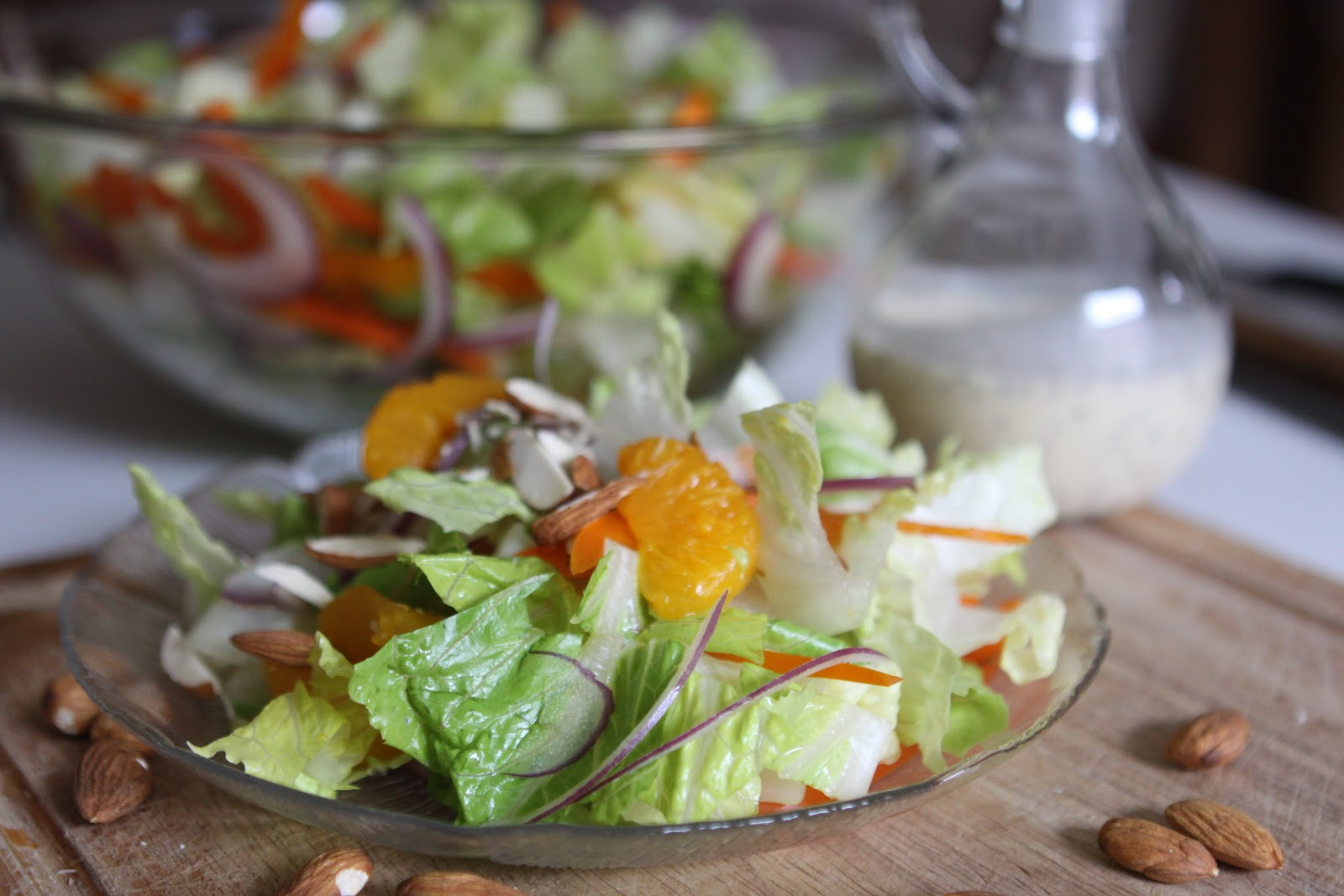 Sweet Frosting: Mandarin Garden Salad with Orange Poppy Seed Dressing