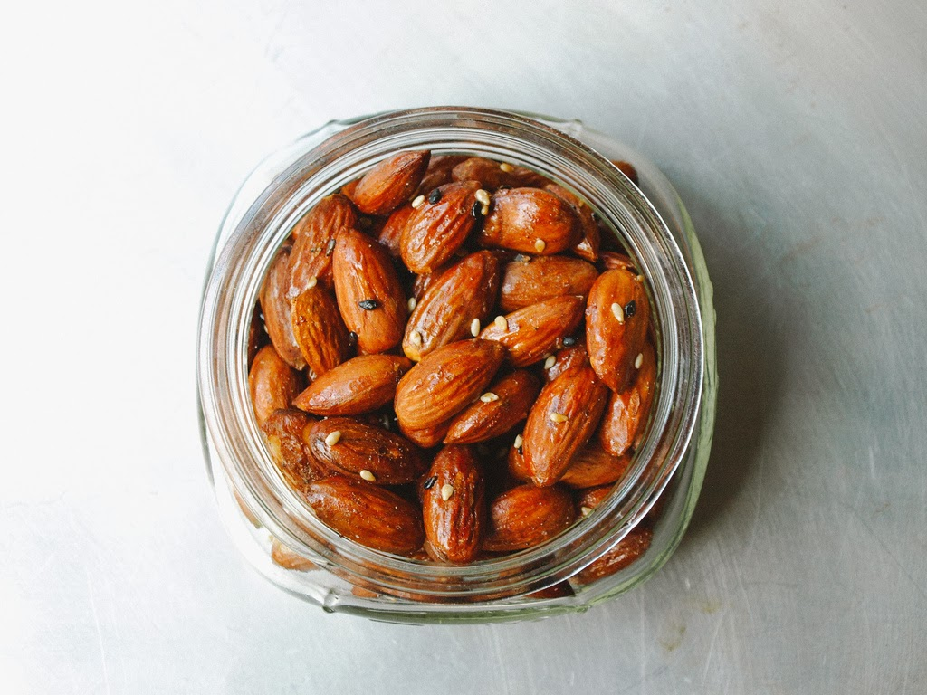 Mirin & Maple Roasted Almonds