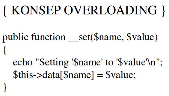 konsep overloading dalam php