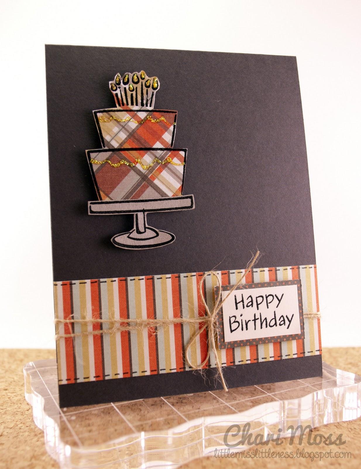 Mossymade Manly Birthday Cake