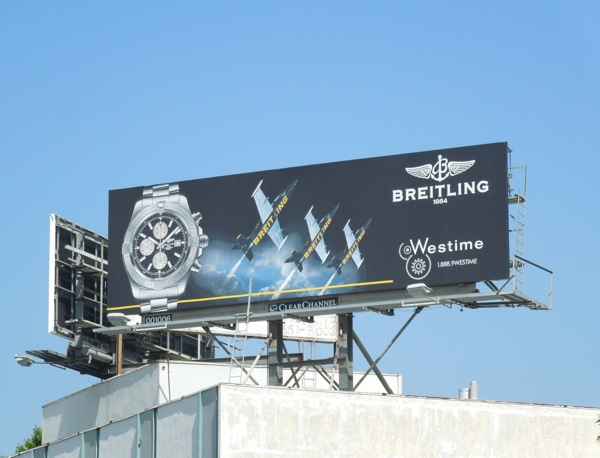 Breitling watch billboard