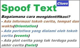 contoh dan pengertian spoof text bahasa Inggris