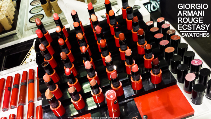 Giorgio Armani Makeup Beauty - Rouge Ecstasy Lipsticks - Swatches