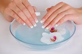 warm water to nail treatment