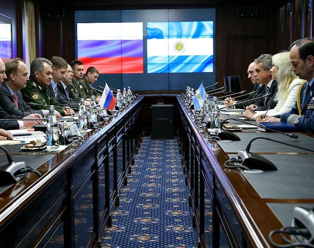 A Rússia e a Argentina incrementarão consideravelmente a cooperação militar.