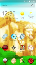 Screenshots of the Naruto for Android tablet, phone.