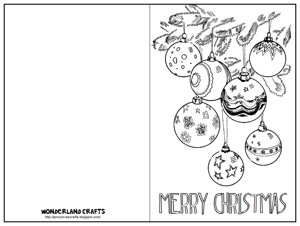 This is an image of Shocking Printable Coloring Christmas Cards