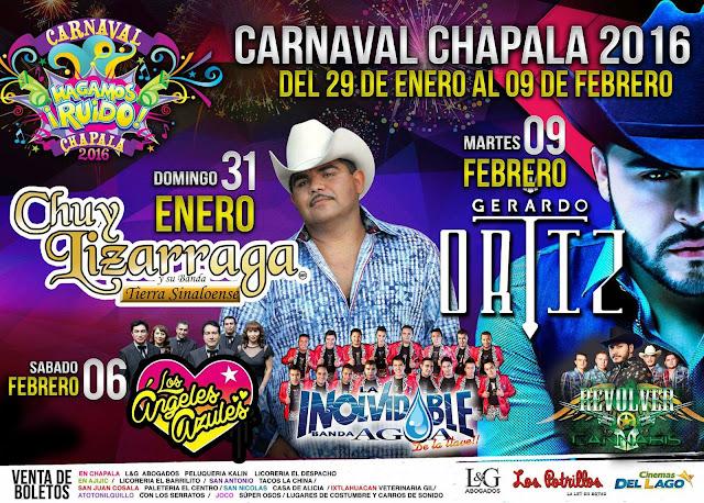 programa carnaval chapala 2016