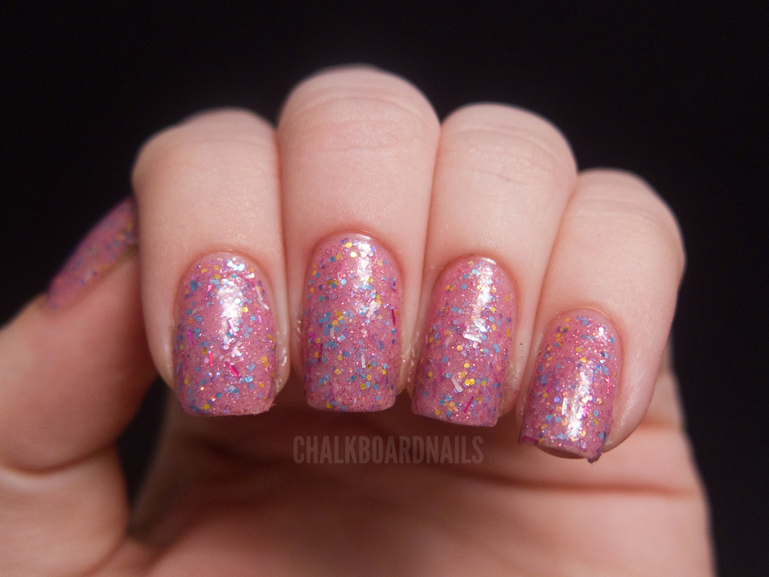It Is The Only Polish That Includes Glitters Arent In Bases Color Family I Think Looks Like A Little Girls Birthday Cake