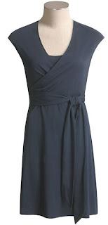 Blue Wrap Gown