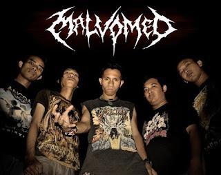 Malvomed band Technical death Metal Samarinda