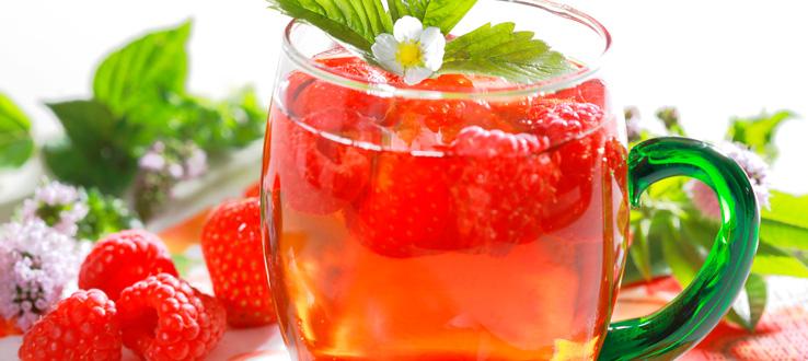 paduan buah dan teh