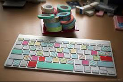 teclado colorido con whasitape