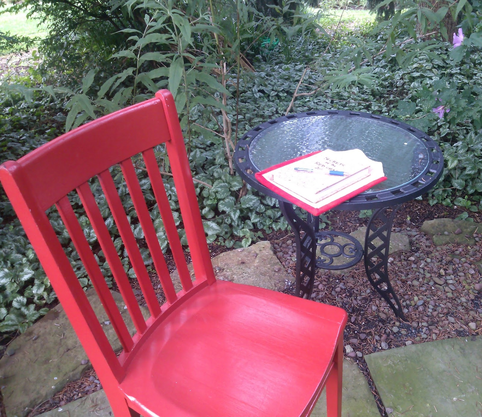 the red chair has arrived at swiss woods bed and breakfast
