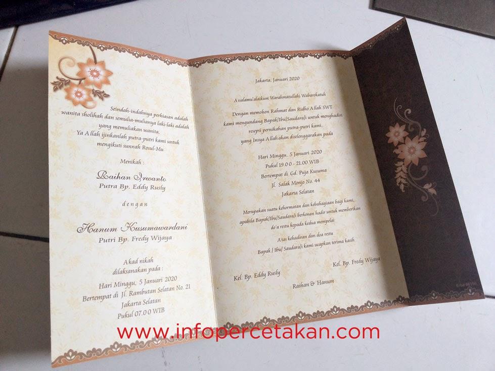 Komponen Undangan Pernikahan | www.InfoPercetakan.com