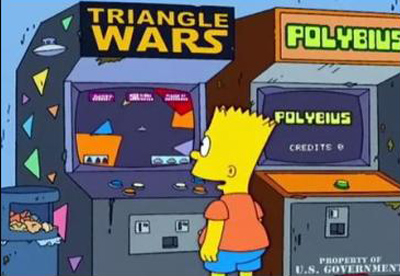 Recreativa de Polybius en Los Simpsons