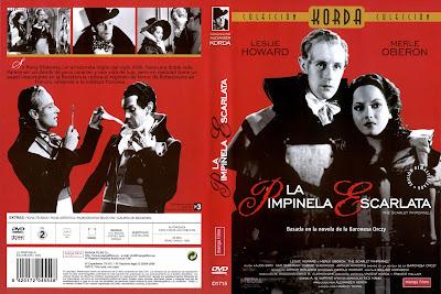 La Pimpinela Escarlata | 1934 | The Scarlet Pimpernel | Cover, caratula, Dvd