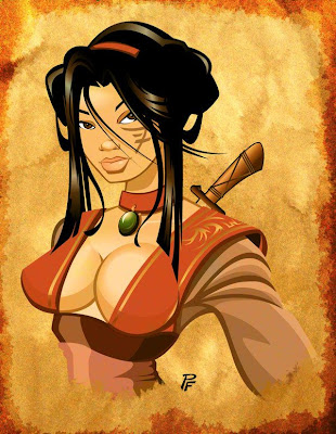 hot warrior women female ninja girl pic