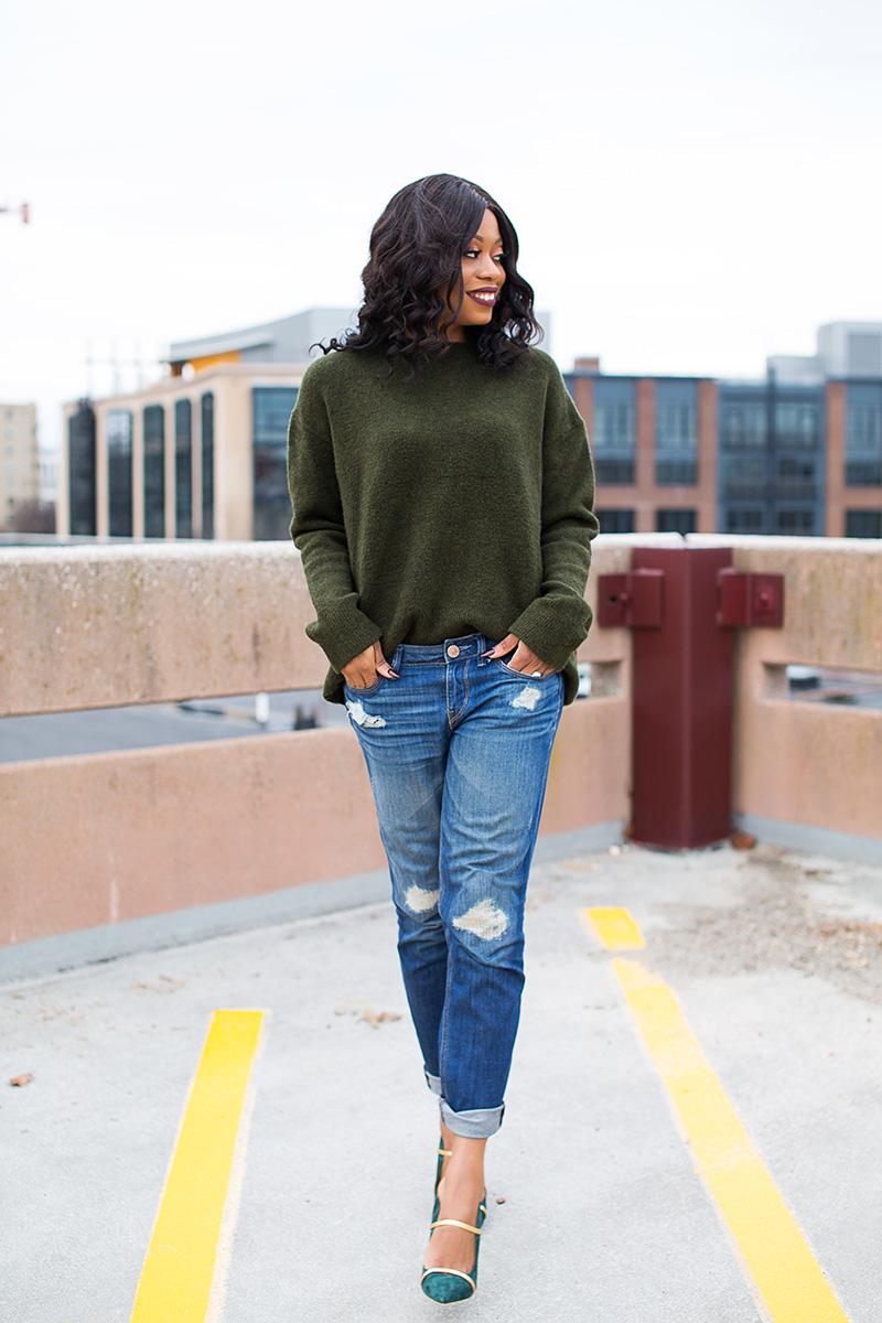 winter casual outfit, boyfriend jeans, malone souliers www.jadore-fashion.com