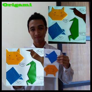 Origami merupakan hasta karya yang terbuat dari kertas origami. karya