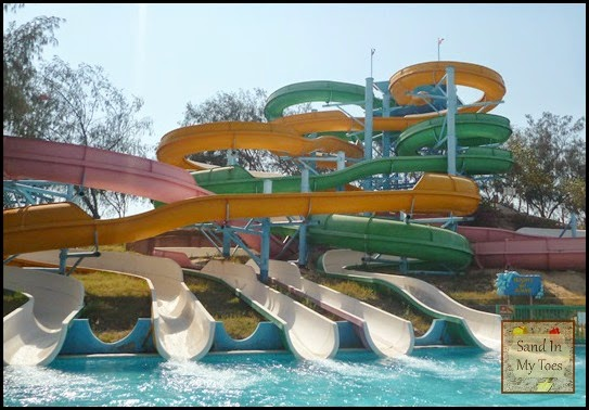 Water slides at Dreamland Aqua Park