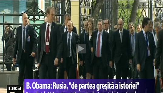 """Obama: """"Putin se poziţionează de partea greşită a istoriei""""  Ultimatum şi împuşcături în Crimeea"""