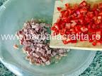 Chec aperitiv preparare reteta - adaugare ardei tocat