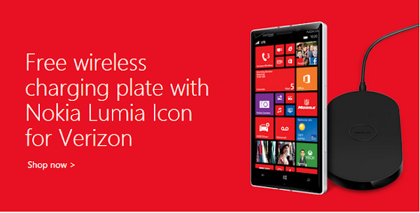 Nokia Lumia Icon with free charging plate