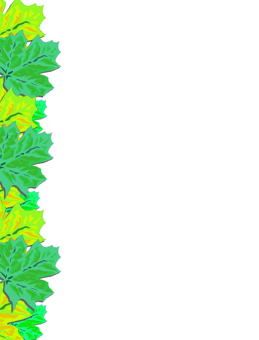 Bordes Decorativos: Bordes decorativos de hojas para imprimir