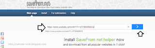 Download Youtube Videos Use Savefrom.net