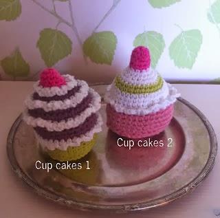 Cup cakes 1   9 cm hög Pris:35 kr  Cup cakes 2  8,5 cm hög Pris:35 kr