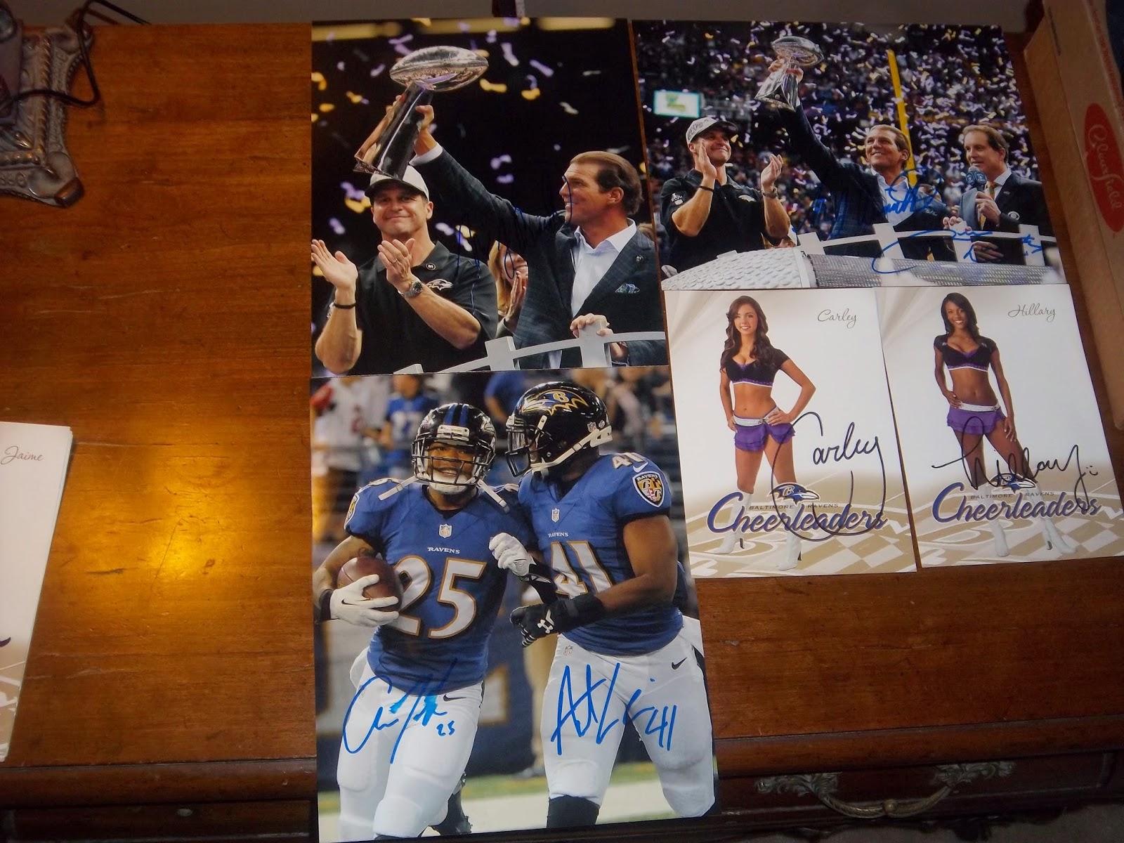 Dion's Autograph collection: Jaguars Ravens Pictures