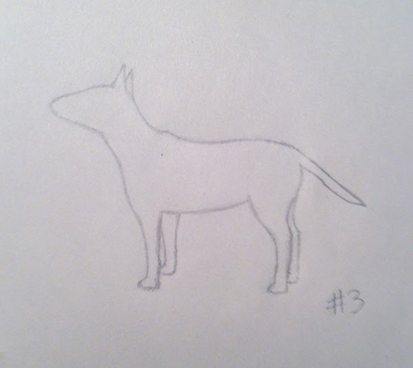 bull terrier drawing
