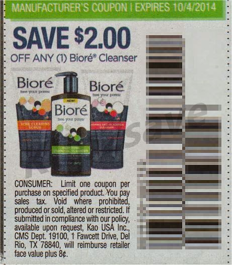 photo about Printable Biore Coupons titled Serious Couponing Mommy: Totally free Biore Facial Cleanser at CVS
