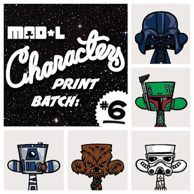 Mad*l Characters Print Series Star Wars Themed Batch 6 by MAD - Darth Vader, Boba Fett, Stormtrooper, Chewbacca & R2-D2