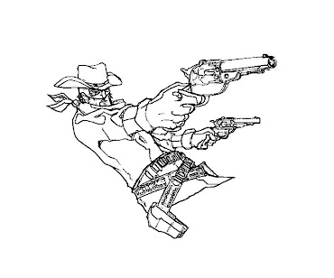 #8 The Lone Ranger Coloring Page