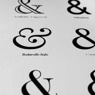 Ampersands Collection Screen Print close up by We laugh indoors