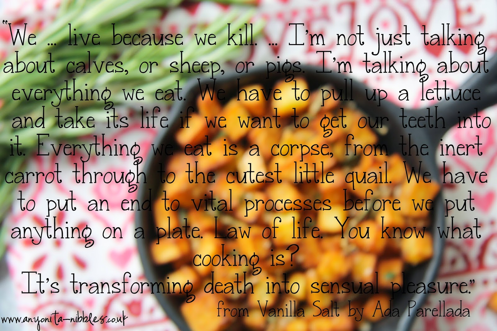 Quote from Vanilla Salt by Ada Parellada from www.anyonita-nibbles.co.uk #book #bookreview