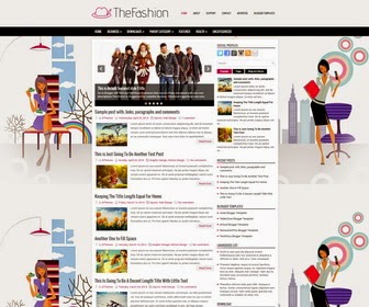 TheFashion is a Responsive, SEO Friendly, 2 Columns Blogger Template for Fashion Blogs. TheFashion Blogger Template has a Right Sidebar, 4 Columns Footer Widgets Area, jQuery Slider, Header Menu and Dropdown Menu, Related Posts, Breadcrumb,