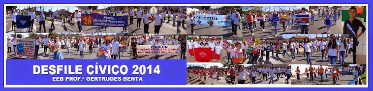1º de setembro desfile cívico na escola