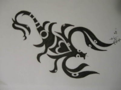 designs scorpion tattoo for girl