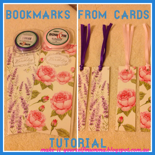 Make it yourself mumma tutorial how to make bookmarks from cards since its only a few days away from mothers day here in australia i thought i would post a few quick and easy projects over the next few days that you solutioingenieria Images