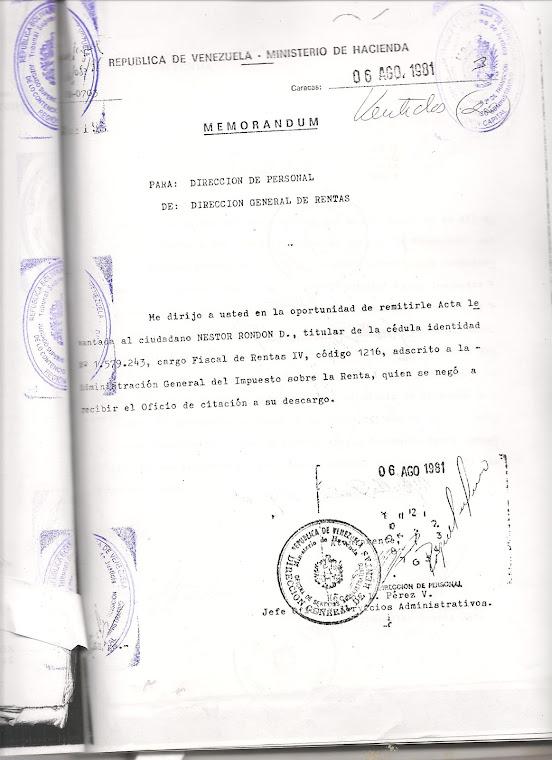 7):   ACTOS ADMINISTRATIVOS CON CONSTANCIA DE HECHOS FALSOS Y PERVERSIÓN HUMANA PARA CAUSAR DAÑO: