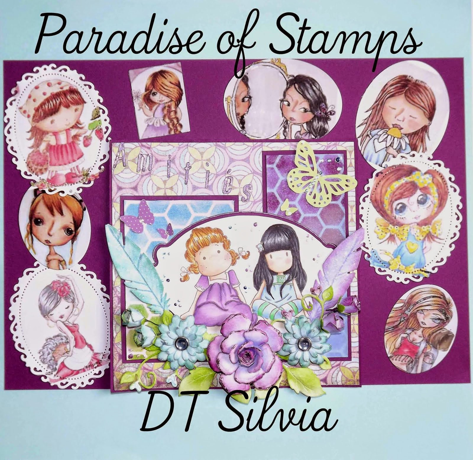 Paradise of Stamp blog challenge previous- DT