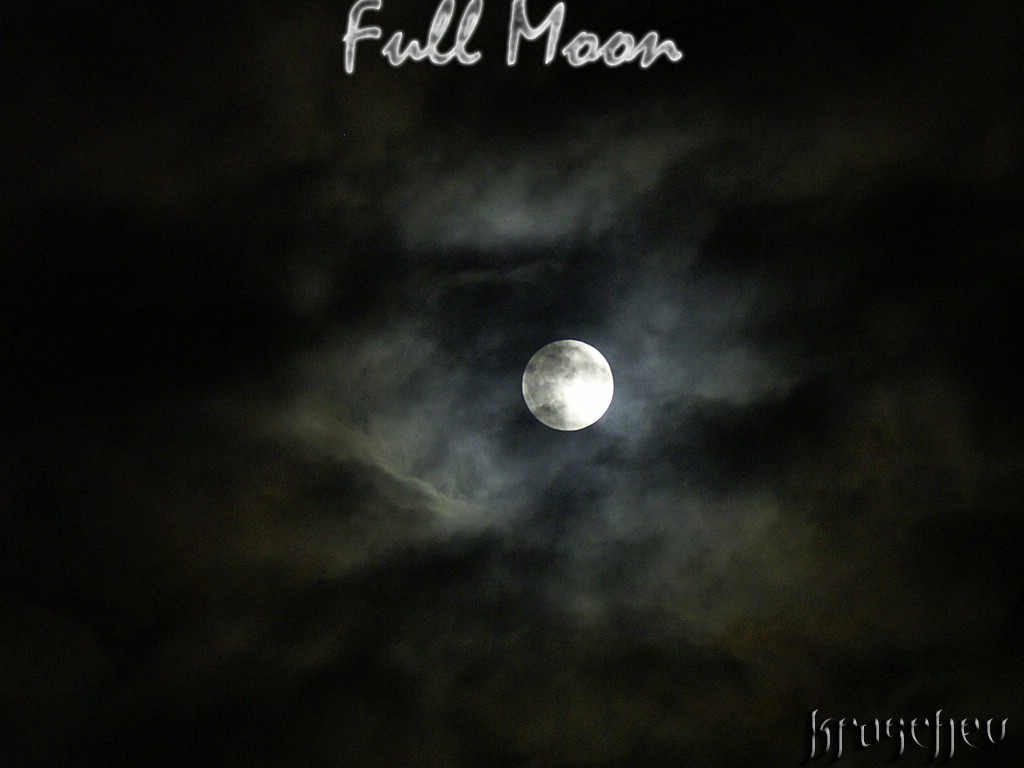 Full Moon Dark Gothic Wallpaper