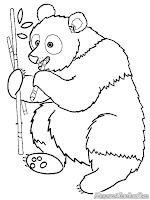 Mewarnai Gambar Induk Panda Membawa Makanan Untuk Anaknya
