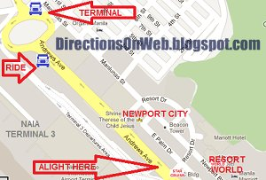 Directions on web how to commute to newport city resort world andrews avenue this terminal is located in front of barangay 183 hall a building you can make out from where you would get off the jeep from pasay gumiabroncs Choice Image