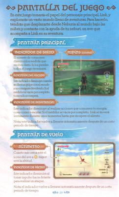 La leyenda de Zelda Skyward Sword - Controles