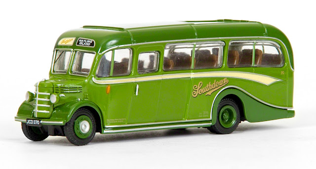EFE 20140 - Bedford OB Coach - Southdown Our second model to mark the centenary of Southdown features fleet number 70, registered JCD 370. This is the first general release of our Bedford OB in Southdown livery, the company used two of these light coaches for services over the weak bridge onto Hayling Island. RRP £32.50